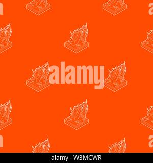 Forest fire pattern vector orange - Stock Photo