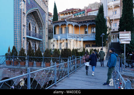 Old town, Tbilisi, Georgia, Caucasia, Eurasia - Stock Photo