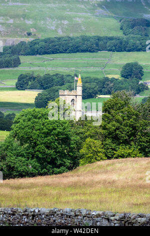 St Margaret of Antioch's Church, Hawes, Wensleydale, Yorkshire Dales National Park, England. - Stock Photo