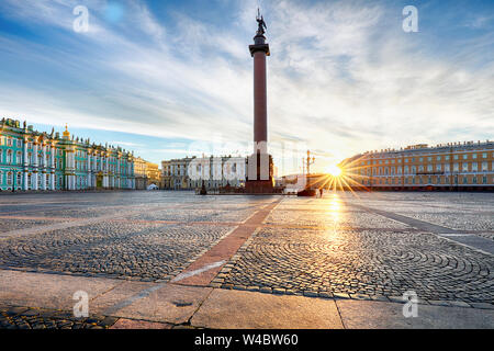 Winter Palace - Hermitage in Saint Petersburg, Russia - Stock Photo