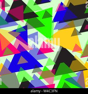 bright colored polygons on a light background vector illustration - Stock Photo