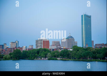 Back Bay Boston skyline - Stock Photo