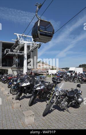 weekly biker's rally;vila nova de gaia;porto;portugal - Stock Photo
