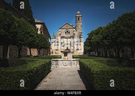 Sacra Capilla del Salvador Chapel at Vazques Molina Square - Ubeda, Jaen Province, Andalusia, Spain - Stock Photo