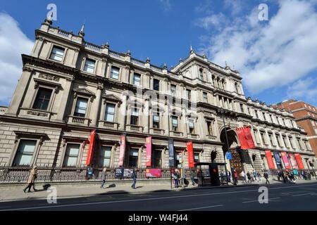 Royal Academy of Arts, Burlington House, Piccadilly, Westminster, London, United Kingdom - Stock Photo