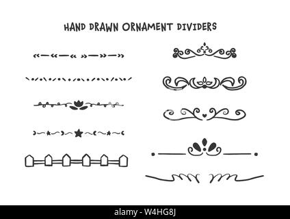 Hand drawn dividers set - Stock Photo