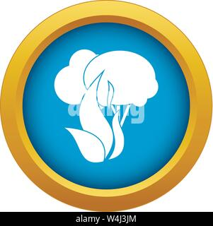 Burning forest trees icon blue vector isolated - Stock Photo