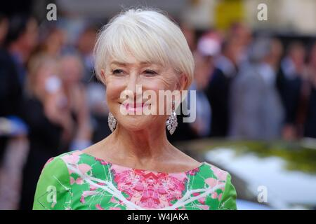 London, UK. 23rd July, 2019. Helen Mirren attends a special screening of Fast and Furious Hobbs and Shaw at the Curzon Mayfair on Tuesday, Jul. 23, 2019 . Picture by Julie Edwards. Credit: Julie Edwards/Alamy Live News - Stock Photo