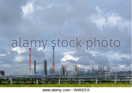 Tobolsk, Russia - July 15. 2016: Polymer plant. Gas-chemical complex on polypropylene production - Stock Photo