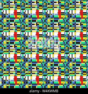 bright colored polygons on a light background seamless vector pattern - Stock Photo