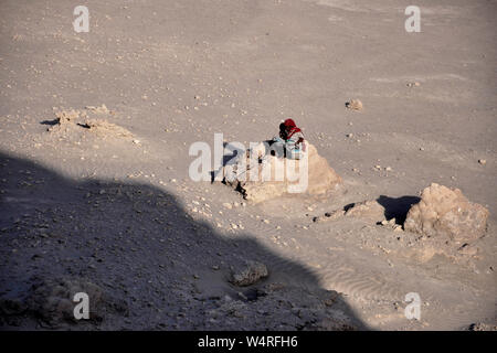Djibouti, Abbe lake area, woman with son - Stock Photo