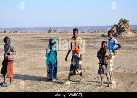 Djibouti, Abbe lake area, local people - Stock Photo