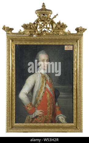 After Anton Raphael Mengs, Leopold II, 1747-1792, German-Roman Emperor, painting, portrait, Holy Roman Emperor, oil on canvas, Height, 101 cm (39.7 inches), Width, 75 cm (29.5 inches) - Stock Photo