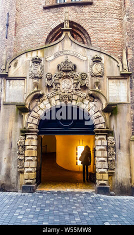 Round Tower Entrance in Copenhagen - Stock Photo
