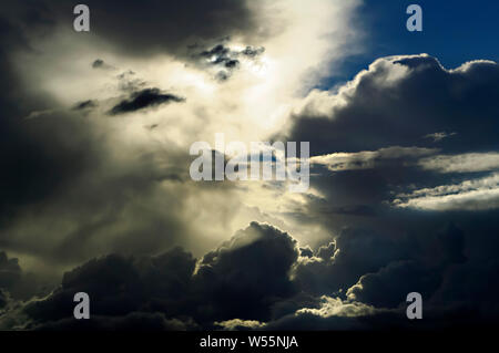Stormclouds in summer gathering over Graves Park in Sheffield, South Yorkshire - Stock Photo
