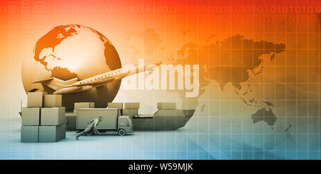 Supply Chain Software Solution for Global Network Concept - Stock Photo