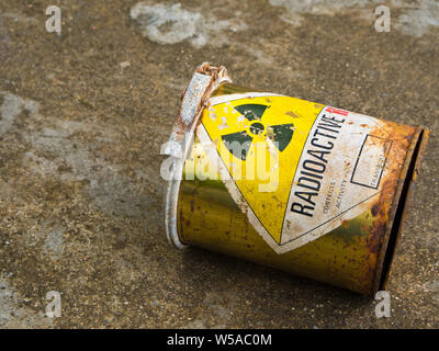 Decay of old Radioactive material container - Stock Photo