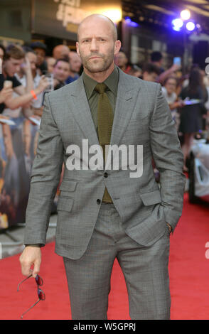 Photo Must Be Credited ©Alpha Press 078237 23/07/2019 Jason Statham at the Fast and Furious Hobbs and Shaw Special Screening held at The Curzon Mayfair in London - Stock Photo