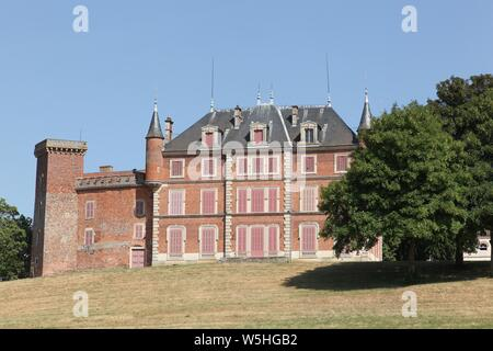 Castle of Tavernost in the Dombes, France - Stock Photo