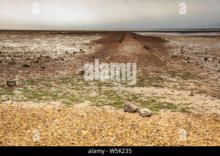 Seascape at Southend On Sea, Essex, During sunset - Stock Photo