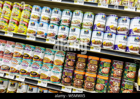 Miami Beach Florida Whole Foods Market company business groceries natural organic shopping shelf 365 store brand packaging displ - Stock Photo