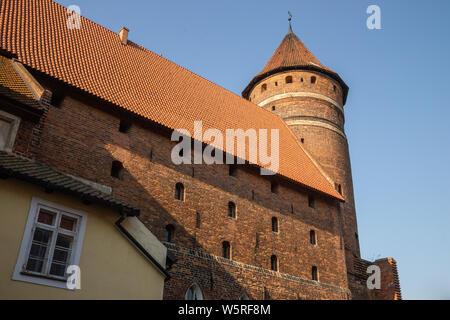 Medieval castle in Olsztyn, Poland - Stock Photo