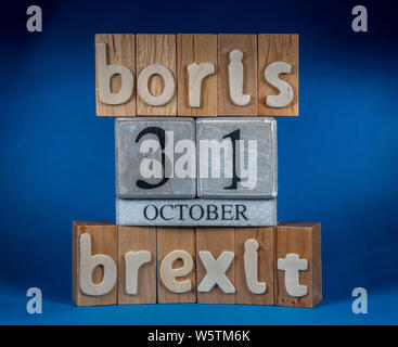 Brexit and Boris Decision 31st October - Stock Photo