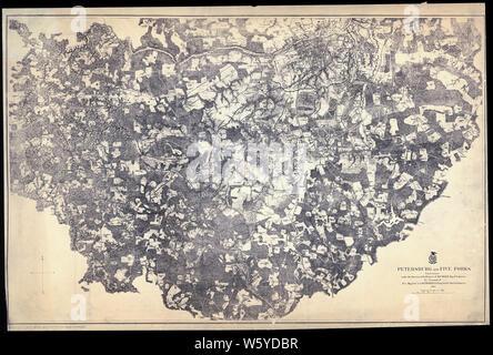 Civil War Maps 1278 Petersburg and Five Forks 1864-1865 Rebuild and Repair - Stock Photo