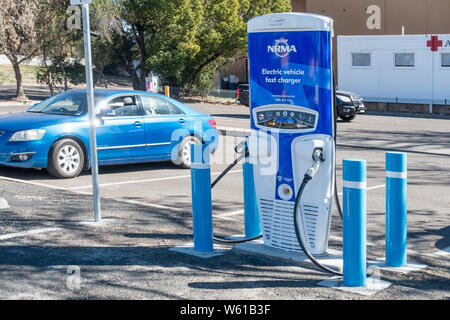 Dual Electric car fast charger at Tamworth Australia. - Stock Photo