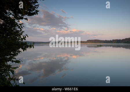 Lake Hartsee, july, Eggstaett, Bavaria, Germany, Eggstõtt - Stock Photo