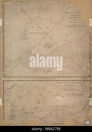 American Revolutionary War Era Maps 1750-1786 952 The west end of the island of Cuba and part of the Colorados Rebuild and Repair - Stock Photo