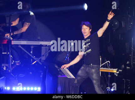 English singer James Blunt performs during his concert in Taipei, Taiwan, 31 March 2018. - Stock Photo