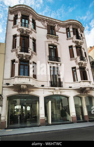 Landmarks and Beautiful Buildings in Montevideo, Uruguay; the architecture of Montevideo ranges from neoclassical buildings to the postmodern style. - Stock Photo