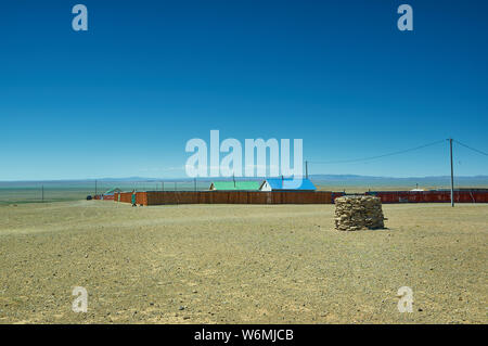 Naranbulag  village of Uvs Province in western Mongolia. - Stock Photo