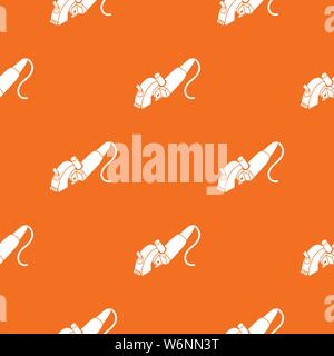 Protect angle grinder pattern vector orange - Stock Photo