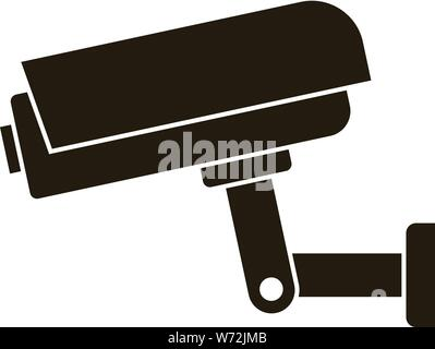 Security camera icon. Simple illustration of security camera vector icon for web design isolated on white background - Stock Photo