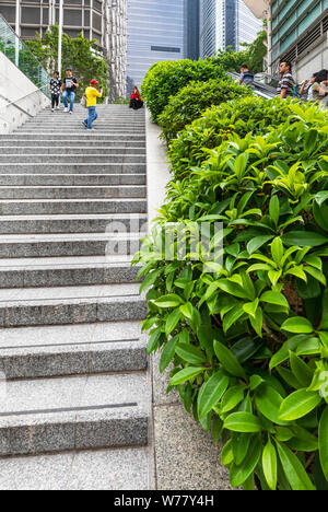 Tourists taking photos in Central, Hong Kong, SAR, China - Stock Photo