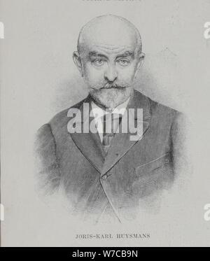 Portrait of the author Joris-Karl Huysmans (1860-1918), 1896. - Stock Photo