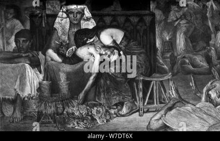 'The Death of the First Born', 1872 (c1880-1882).Artist: A Mongin - Stock Photo