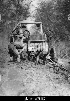 Stuck in the mud, Bulawayo to Dett, Southern Rhodesia, c1924-c1925 (1927). Artist: Thomas A Glover - Stock Photo