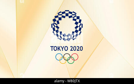 Tokyo 2020 Olympic and Paralympic Games official logo - Stock Photo