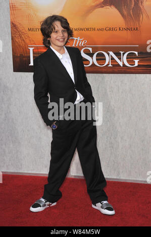 LOS ANGELES, CA. March 25, 2010: Bobby Coleman at the world premiere of his new movie 'The Last Song' at the Arclight Theatre, Hollywood. © 2010 Paul Smith / Featureflash - Stock Photo