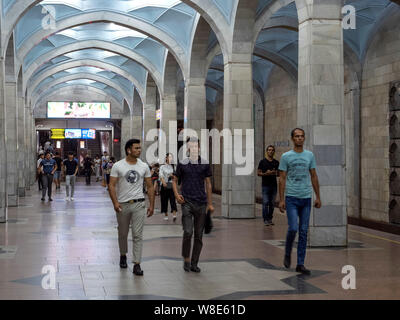 Subway station in Tashkent, Uzbekistan, Asia - Stock Photo