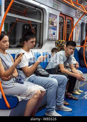 Subway in Tashkent, Uzbekistan, Asia - Stock Photo
