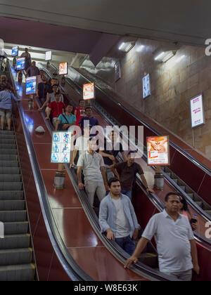 Metro  Station in Taschkent, Usbekistan, Asien  Subway station in Tashkent, Uzbekistan, Asia - Stock Photo