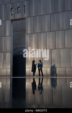 The Oklahoma City National Memorial and Museum honoring those who died in the bombing of the Alfred P. Murrah Federal Building in Oklahoma City, OK - Stock Photo