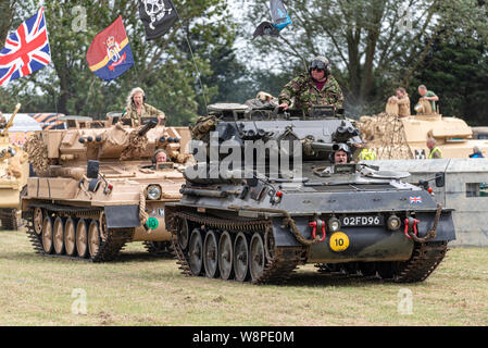 Echoes of History military show at Purleigh, Essex, UK organised by the Essex Historic Military Vehicle Association. Ex military British Army Scorpion - Stock Photo