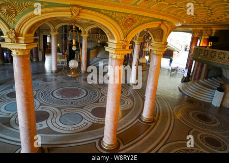Interior of the Romanian Athenaeum,  a concert hall in the center of Bucharest, Romania - Stock Photo