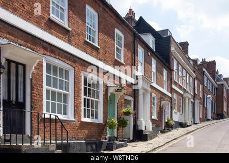 Period houses, Fore Street, Old Hatfield, Hatfield, Hertfordshire, England, United Kingdom - Stock Photo