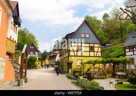 Germany, provincial town street, european style - Stock Photo